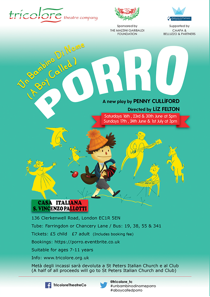 Un Bambino di Nome Porro A new play by Penny Culliford