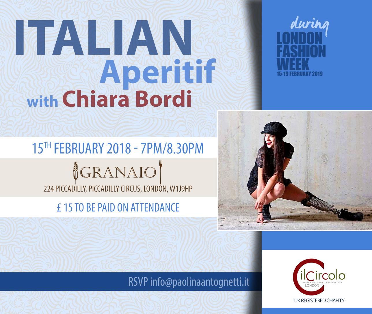 Il Circolo- Italian Aperitif with Chiara Bordi February 15